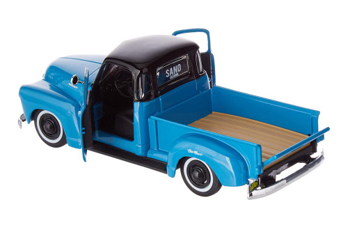 1950 Chevy 3100 Pickup Truck, Blue - Maisto 32506BU - 1/25 scale Diecast Model Toy Car