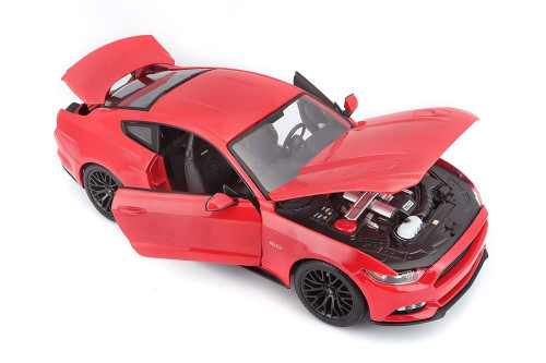 2015 Ford Mustang GT, Red - Maisto 31369R - 1/24 scale Diecast Model Toy Car
