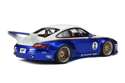 1992 Porsche 911 997 #1, White and Blue - GT Spirit GT797 - 1/18 scale Resin Model Toy Car