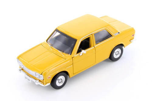 1971 Datsun 510, Yellow - Maisto 31518YL - 1/24 scale Diecast Model Toy Car