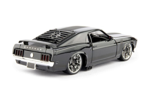 1970 Ford Mustang Boss 302, Black - Maisto 32535BK - 1/24 scale Diecast Model Toy Car
