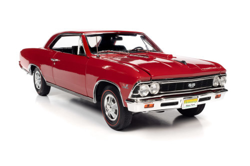 1966 Chevy Chevelle SS 396, Regal Red - Auto World AMM1233 - 1/18 scale Diecast Model Toy Car
