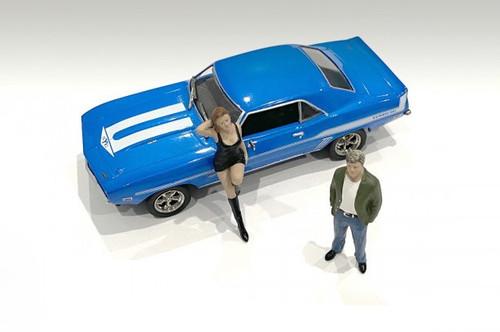 70's Style Figures Set I, Multi - American Diorama 38351 - 1/43 scale Figurine - Diorama Accessory