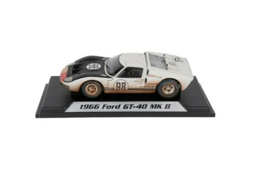 1966 Ford GT-40 MK II #98 After Race (Dirty Version), White - Shelby Collectibles SC432W - 1/18 scale Diecast Model Toy Car
