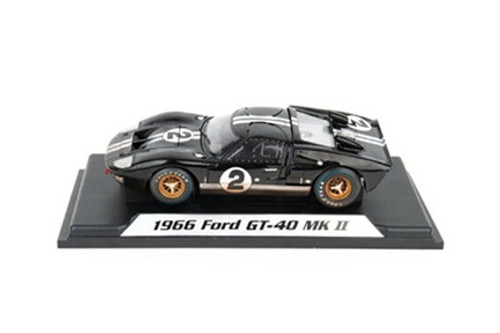 1966 Ford GT-40 MK II #2 After Race (Dirty Version, Black - Shelby Collectibles SC431BK - 1/18 scale Diecast Model Toy Car