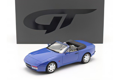 1989 Porsche 944 Turbo S2 Convertible, Maritime Blue - GT Spirit GT804 - 1/18 scale Resin Model Toy Car