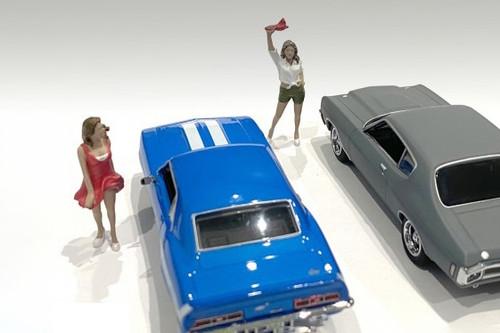 70's Style Figures Set IV, Multi - American Diorama 38354 - 1/43 scale Figurine - Diorama Accessory