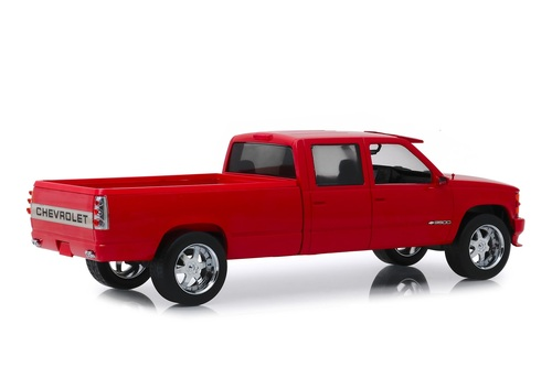 1997 Chevy Silverado 3500 Crew Cab Pickup Truck, Victory Red - Greenlight 19073 - 1/18 scale Diecast Model Toy Car