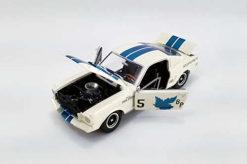 """1965 Ford Mustang Shelby G.T.350R, #5 Dick Jordan """"Canadian Champion"""" - Acme A1801841 - 1/18 scale Diecast Model Toy Car"""