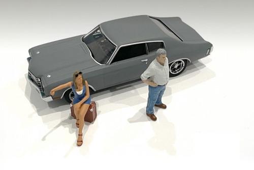 70's Style Figures Set III, Multi - American Diorama 38353 - 1/43 scale Figurine - Diorama Accessory