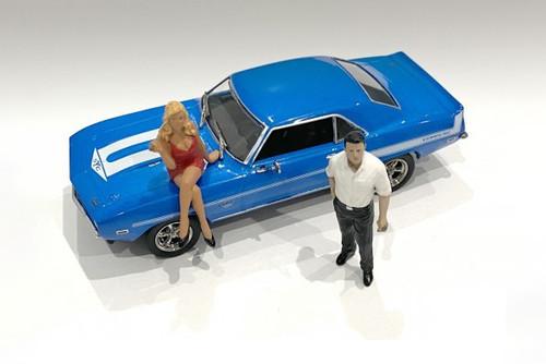 70's Style Figures Set II, Multi - American Diorama 38352 - 1/43 scale Figurine - Diorama Accessory