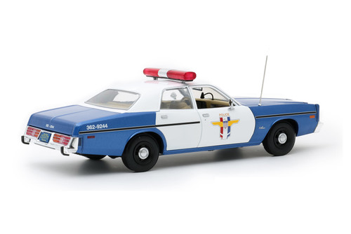 1978 Dodge Monaco Crystal Lake Police, White and Blue - Greenlight 19068 - 1/18 scale Diecast Model Toy Car
