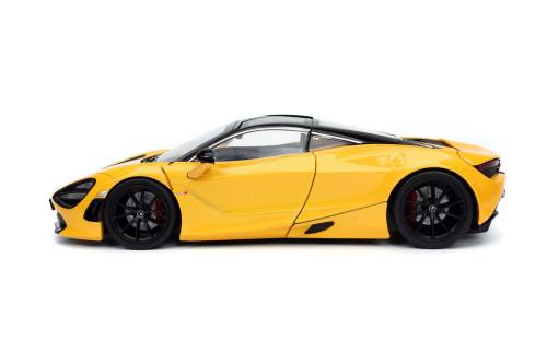 2019 McLaren 720S, Yellow - Jada Toys 32280/4 - 1/24 scale Diecast Model Toy Car