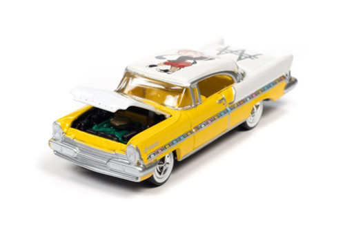 1957 Lincoln Premiere with Token Monopoly 85th Anniversary, Saturn Gold - Johnny Lightning JLSP124/24 - 1/64 scale Diecast Model Toy Car