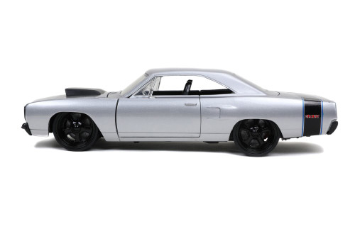 1970 Plymouth Road Runner, Silver - Jada Toys 32306/4 - 1/24 scale Diecast Model Toy Car
