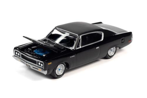 1970 AMC Rebel Machine, Black - Johnny Lightning JLMC024/48A - 1/64 scale Diecast Model Toy Car