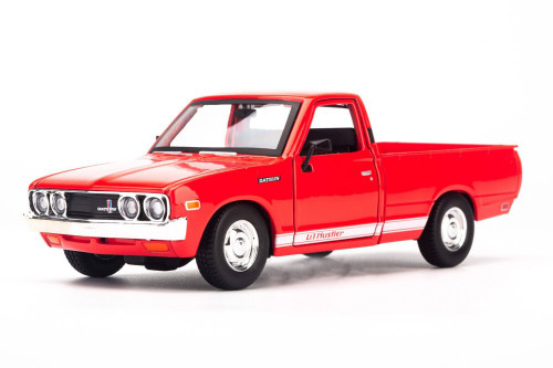 1973 Datsun 620 Pickup Truck, Red - Showcasts 34522 - 1/24 scale Diecast Model Toy Car