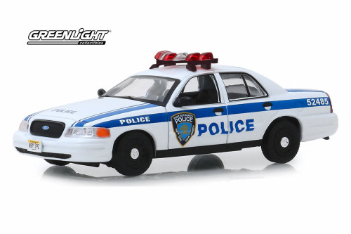 2003 Ford Crown Victoria Port Authority of New York & New Jersey Police, White - Greenlight 86569 - 1/43 scale Diecast Model Toy Car