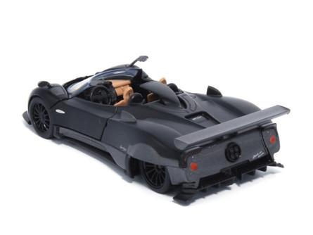 Pagani Zonda HP Barchetta, Matte Black - Tayumo 36120211 - 1/36 scale Diecast Model Toy Car