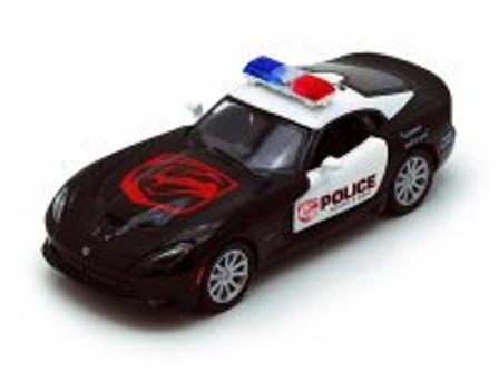 2013 Dodge SRT Viper GTS Police, Black - Kinsmart 5363DP- 1/36 scale Diecast Model Toy Car