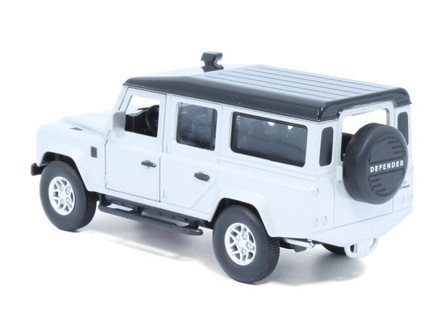 Land Rover Defender 110, Indus Silver - Tayumo 36100011 - 1/36 scale Diecast Model Toy Car