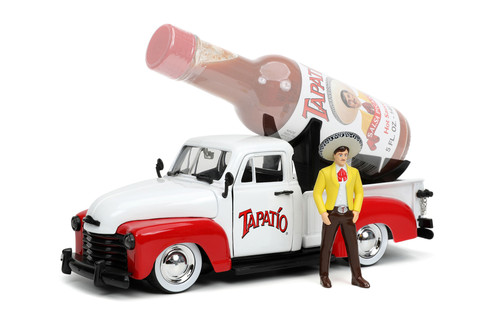 1953 Chevy Pickup Truck with Charro Man figure, Tapatio - Jada Toys 31968 - 1/24 scale Diecast Model Toy Car