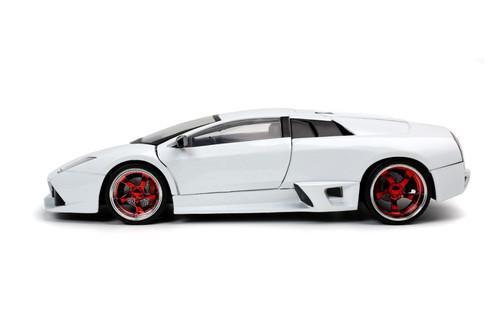 2010 Lamborghini Murcielago LP640, White - Jada Toys 32570/4 - 1/24 scale Diecast Model Toy Car