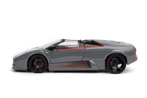 2010 Lamborghini Murcielago Roadster, Gray - Jada Toys 32569/4 - 1/24 scale Diecast Model Toy Car