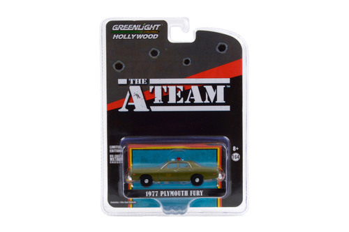 1977 Plymouth Fury U.S. Army Police, The A-Team - The Greenlight 44865A/48 - 1/64 scale Diecast Model Toy Car