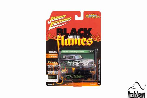 AMC Rambler Wagon, Gloss Black - Johnny Lightning JLSF015/48B - 1/64 scale Diecast Model Toy Car