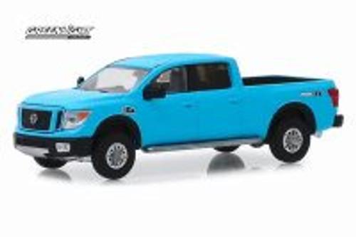 2018 Nissan Titan XD Pro-4X, Matte Blue - Greenlight 47050/48 - 1/64 scale Diecast Model Toy Car