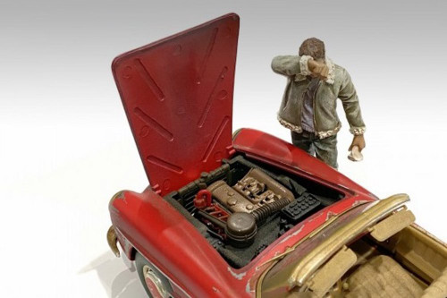 Auto Mechanic - Sweating Joe, Green - American Diorama 76362 - 1/24 scale Figurine - Diorama Accessory