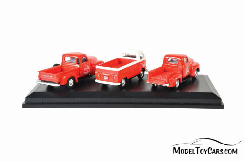 Coca-Cola Classic Pickup Set, Red - Motorcity Classics 472100 - 1/72 Scale Diecast Model Toy Car