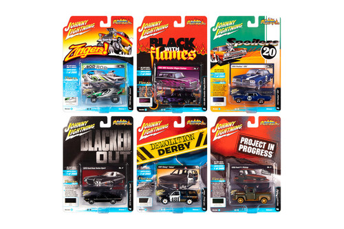 Johnny Lightning Street Freaks 2020 Release 1 Set A Diecast Car Set - Box of 6 assorted 1/64 Scale Diecast Model Cars