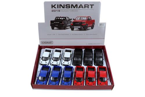 Kinsmart 2019 Dodge Ram Pickup Diecast Car Set - Box of 12 5-inch Diecast Model Cars, Assorted Colors
