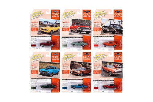 Johnny Lightning Muscle Cars USA Series 23 Diecast Car Set - Box of 6 assorted 1/64 Scale Diecast Model Cars
