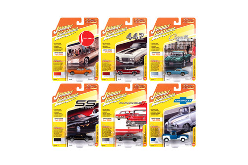 Johnny Lightning Classic Gold 2020 Release 2 Set B Diecast Car Set - Box of 6 assorted 1/64 Scale Diecast Model Cars