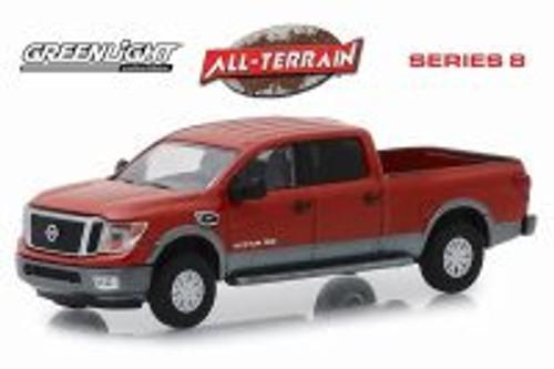 2018 Nissan Titan XD Platinum Pickup Truck, Copper - Greenlight 35130F/48 - 1/64 Scale Diecast Model Toy Car