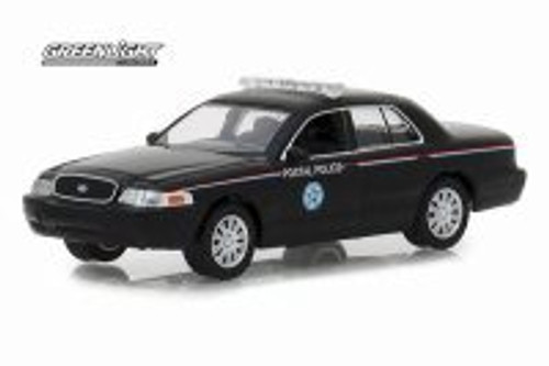 2010 Ford Crown Victoria, Black - Greenlight 29971/48 - 1/64 scale Diecast Model Toy Car