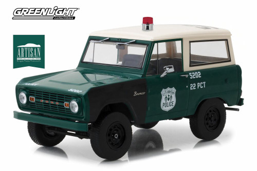 1967 Ford Bronco, Green - Greenlight 19036 - 1/18 scale Diecast Model Toy Car