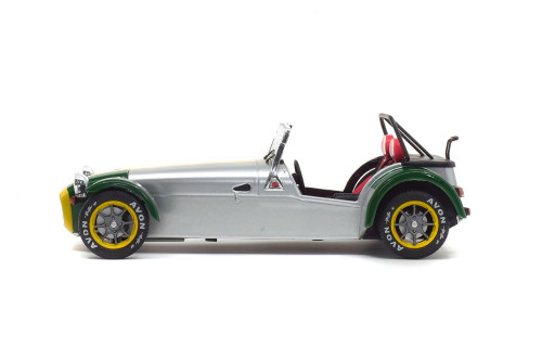 1989 Lotus 7 Aluminum Body Convertible, Silver - Solido S1801803 - 1/18 scale Diecast Model Toy Car
