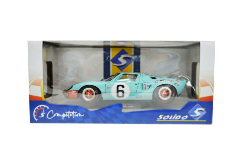 1969 Ford GT40 MKI #6 Gulf Oil, Light Blue and Orange - Solido S1803003 - 1/18 scale Diecast Model Toy Car