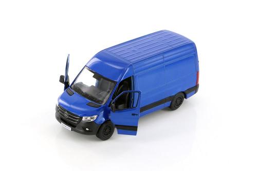 2019 Mercedes-Benz Spinter Van, Blue - Kinsmart 5426D - 1/48 scale Diecast Model Toy Car