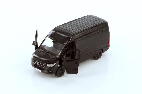 2019 Mercedes-Benz Spinter Van, Black - Kinsmart 5426D - 1/48 scale Diecast Model Toy Car