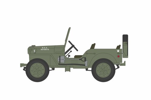 1942 Willys MB Jeep, M*A*S*H - Greenlight 44900A/48 - 1/64 scale Diecast Model Toy Car