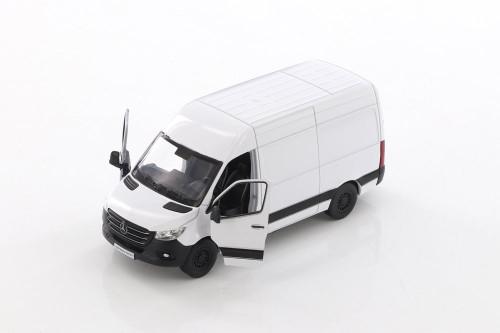 2019 Mercedes-Benz Spinter Van, White - Kinsmart 5426D - 1/48 scale Diecast Model Toy Car