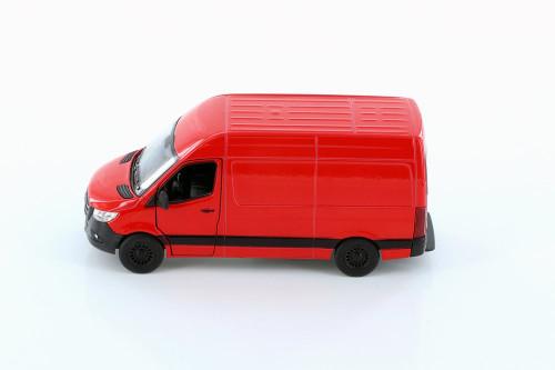 2019 Mercedes-Benz Spinter Van, Red - Kinsmart 5426D - 1/48 scale Diecast Model Toy Car