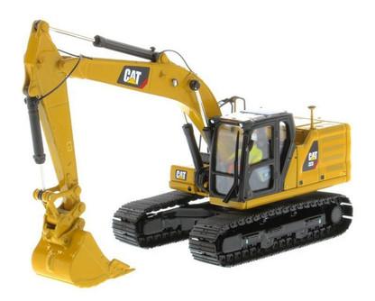 Caterpillar 323 Hydraulic Excavator with Operator Next Generation Design, Yellow - Diecast Masters 85571 - 1/50 scale Diecast Vehicle Replica