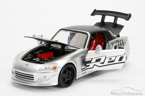 2001 Honda S2000 Hard Top, Silver - Jada 98570WA1 - 1/24 Scale Diecast Model Toy Car
