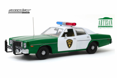 1975 Plymouth Fury, Chickasaw County Sheriff - Greenlight 19076 - 1/18 scale Diecast Model Toy Car